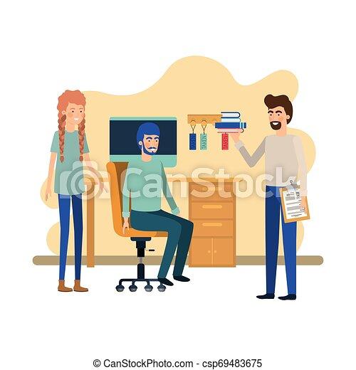 工作, 組, 辦公室人們 - csp69483675