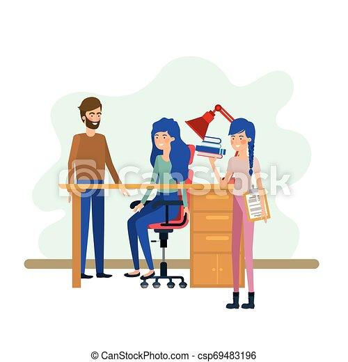 工作, 組, 辦公室人們 - csp69483196