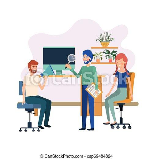 工作, 組, 辦公室人們 - csp69484824