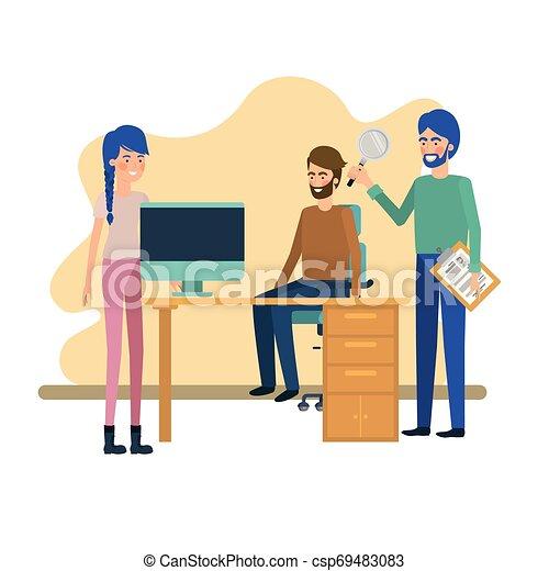 工作, 組, 辦公室人們 - csp69483083