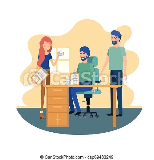 工作, 組, 辦公室人們 - csp69483249
