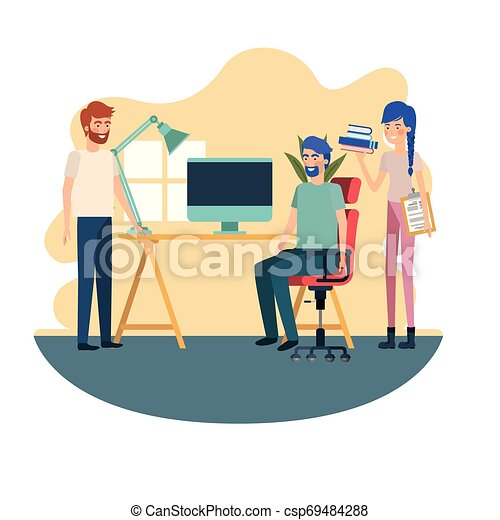 工作, 組, 辦公室人們 - csp69484288