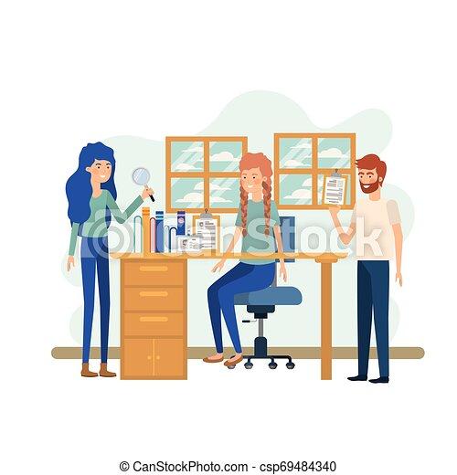 工作, 組, 辦公室人們 - csp69484340