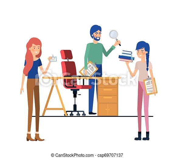工作, 組, 辦公室人們 - csp69707137