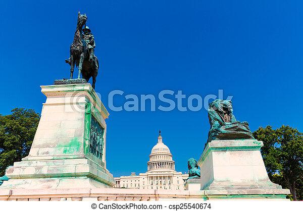 建築物, 州議會大廈, 國會, 華盛頓特區, 陽光 - csp25540674