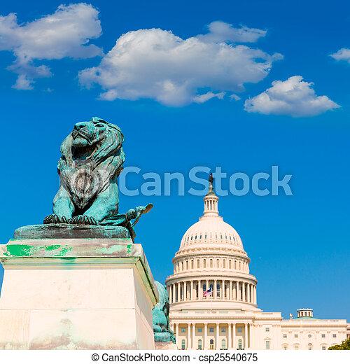建築物, 州議會大廈, 國會, 華盛頓特區, 陽光 - csp25540675