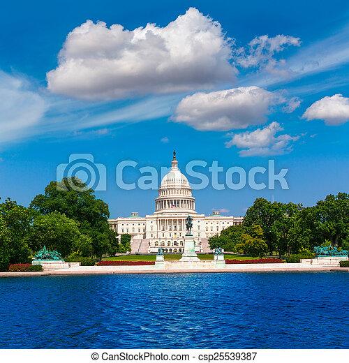 建築物, 州議會大廈, 美國, 華盛頓特區, 陽光 - csp25539387