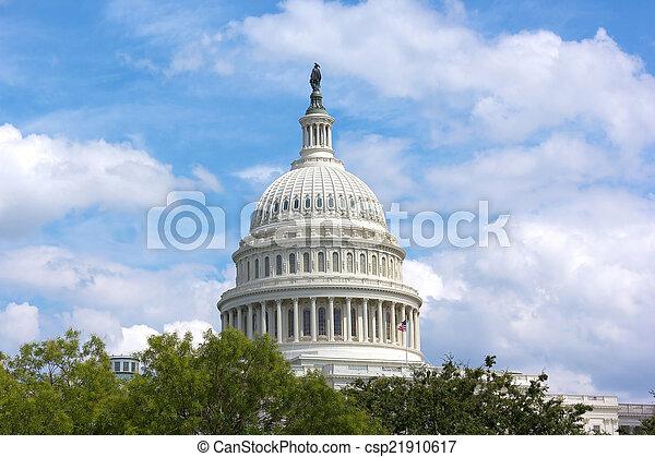 建築物, 州議會大廈, 華盛頓特區, 我們, 圓屋頂 - csp21910617