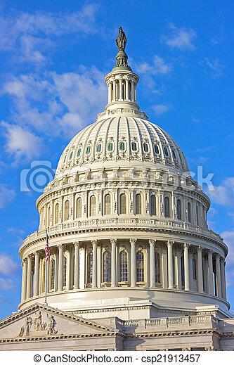 建築物, 華盛頓特區, 美國美國國會大廈 - csp21913457