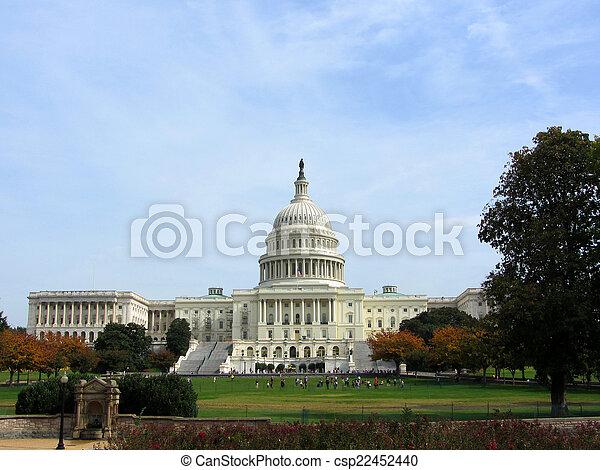 建築物, 華盛頓特區, 美國美國國會大廈 - csp22452440