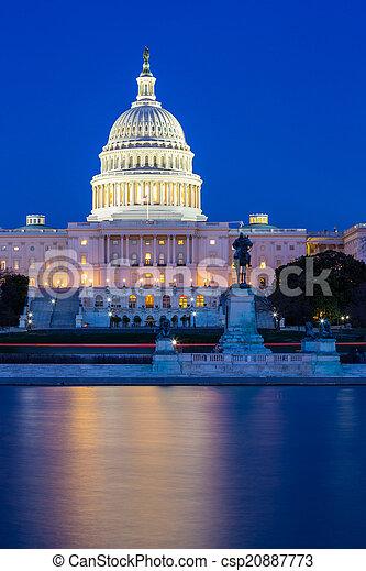 建築物, 華盛頓 國會大廈, 我們, dc - csp20887773