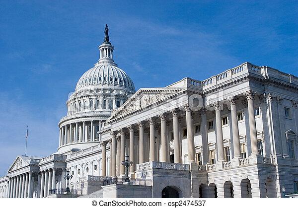 建築物, 華盛頓 國會大廈, 我們, dc - csp2474537