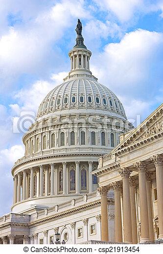 建築物, 黎明, 州議會大廈, 我們 - csp21913454