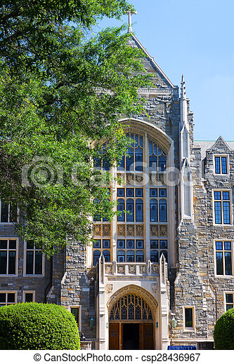 建築物, dc, 大學, 華盛頓 - csp28436967