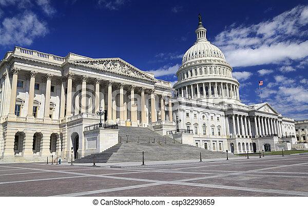 建築物, dc, 州議會大廈, 我們, 華盛頓 - csp32293659