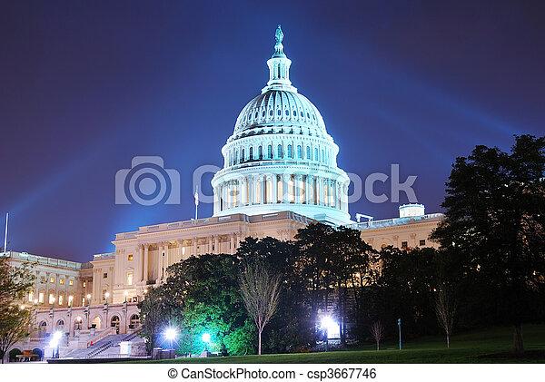 建築物, dc, 州議會大廈, 華盛頓, 小山 - csp3667746