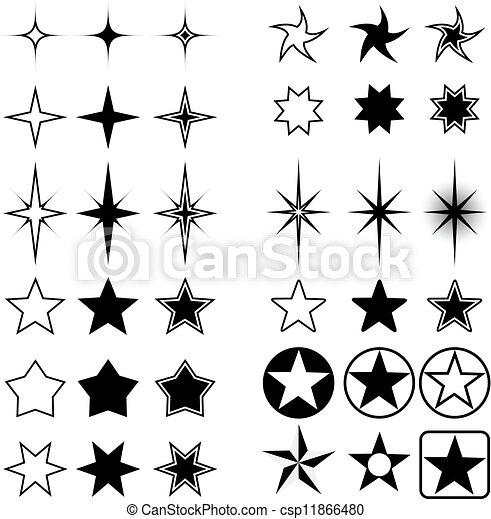 形狀, 星, 被隔离, white. - csp11866480