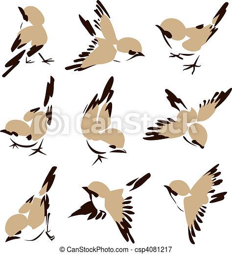 很少, 鳥, 插圖 - csp4081217