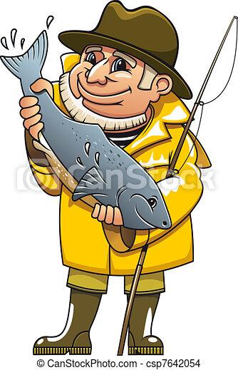 微笑, 漁夫 - csp7642054