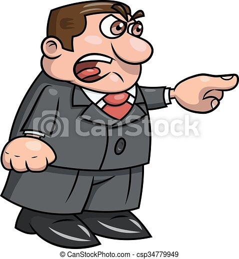 憤怒, 2, 尖聲叫, 老板 - csp34779949