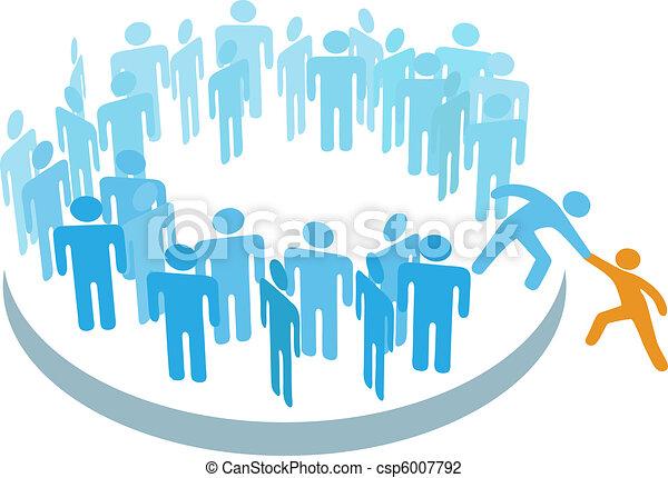 成員, 組, 幫助, 人們, 大, 新, 加入 - csp6007792