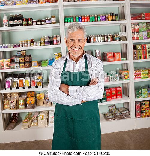 所有者, 微笑, 商店, 超級市場 - csp15140285
