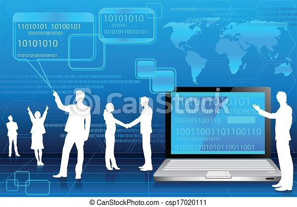 技術, 事務, 背景人們 - csp17020111