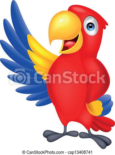 招手, 漂亮, 金剛鸚鵡, 鳥 - csp13408741