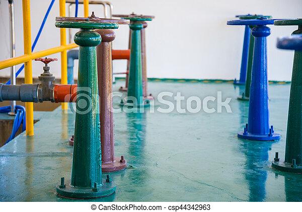 控制, 水, 閥門, 門 - csp44342963