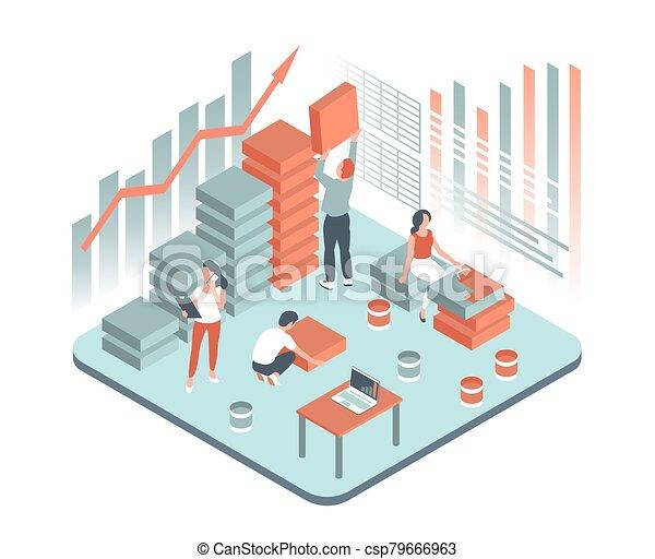 描述商業, 人們, 辦公室 - csp79666963