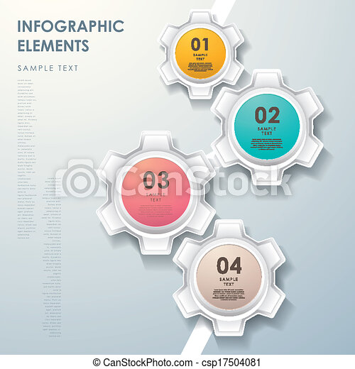 摘要, 圖表, 流動, 齒輪, infographics - csp17504081