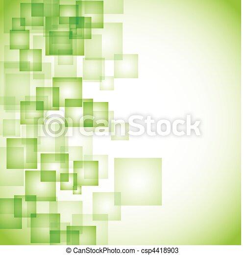 摘要, 背景, 綠色, 廣場 - csp4418903