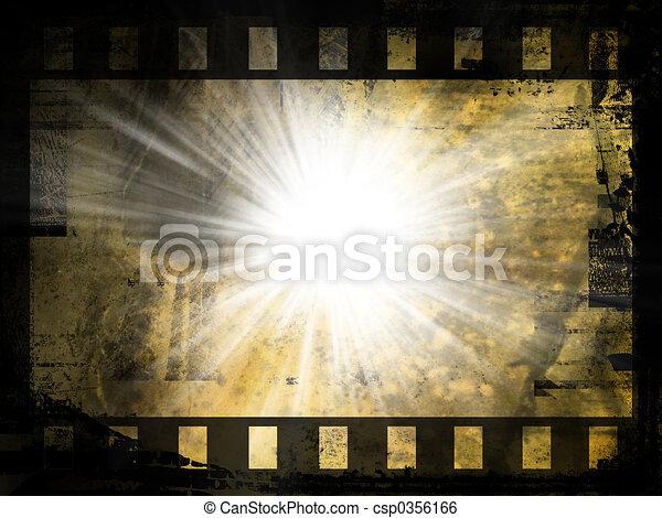 摘要, 電影, 背景, 剝去 - csp0356166