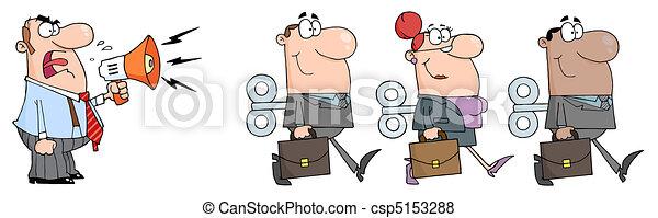 擴音器, 人, 老板, 尖聲叫 - csp5153288