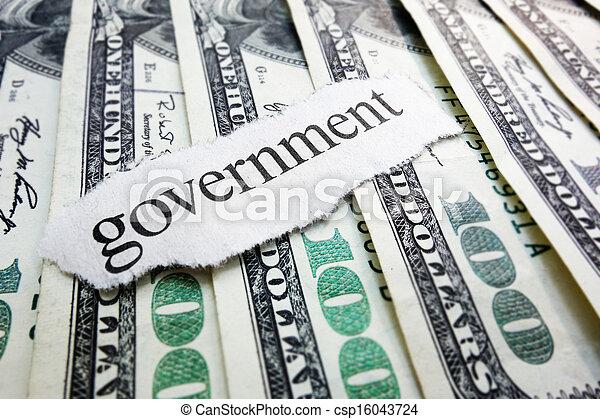 政府, 錢 - csp16043724