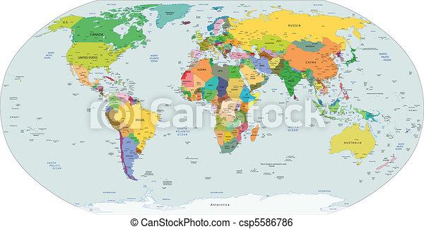 政治, 全球, 地圖, 世界 - csp5586786