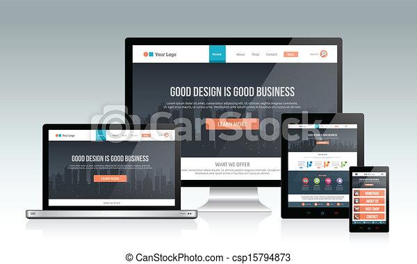 敏感, 網站, 設計 - csp15794873