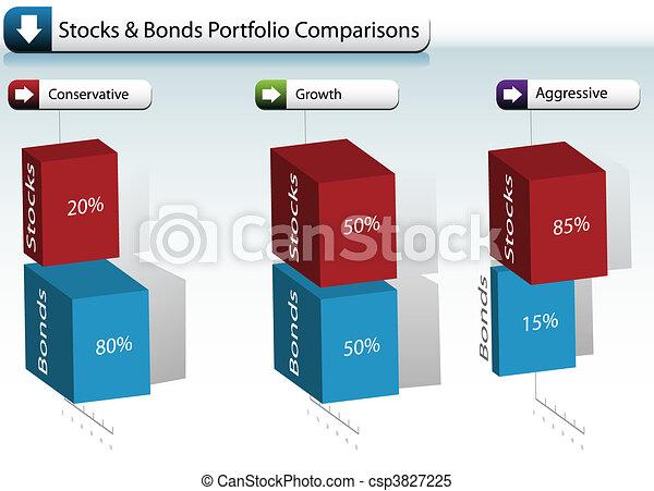 文件夾, 股票圖表, 債券 - csp3827225