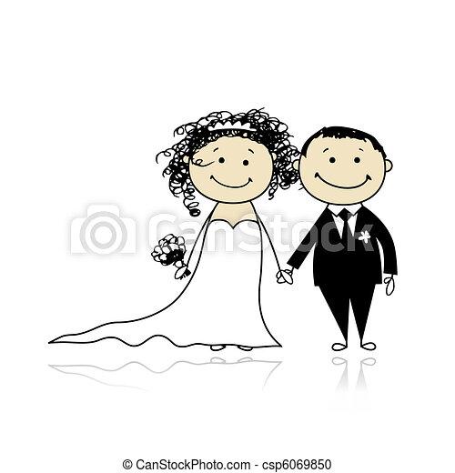 新郎, 你, 婚禮, -, 儀式, 一起, 設計, 新娘 - csp6069850