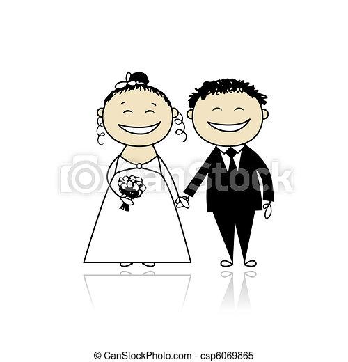 新郎, 你, 婚禮, -, 儀式, 一起, 設計, 新娘 - csp6069865
