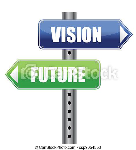 方向, 路, 視覺, 簽署 - csp9654553