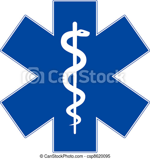 星, 緊急事件, 被隔离, 符號, 醫學, 白色, 生活 - csp8620095