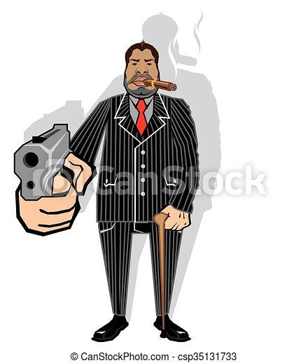 暴民, 老板 - csp35131733