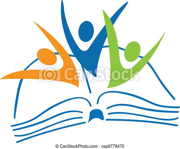 書, 標識語, 學生, 數字, 打開 - csp9778470