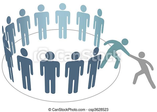 朋友, 人們, 加入, 幫助, 成員, 組, 公司, 幫手 - csp3628523