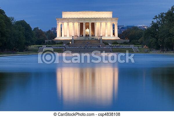 林肯紀念館 - csp4838108