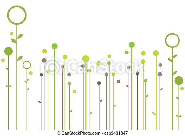 植物, 摘要設計 - csp3431847