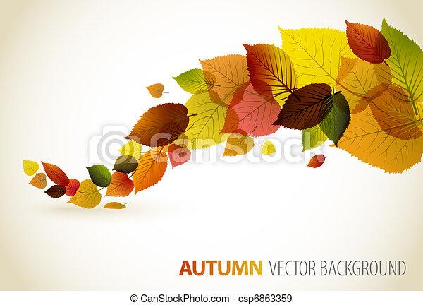 植物, 摘要, 背景, 秋天 - csp6863359