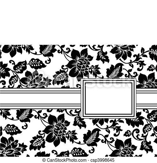 植物, 框架, 矢量, 帶子 - csp3998645