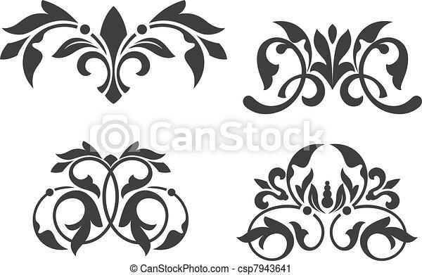 植物, 葡萄酒, 圖樣 - csp7943641